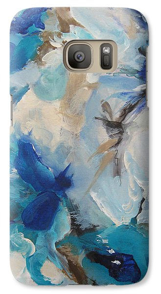 Galaxy Case featuring the painting Spark 21 by Elis Cooke