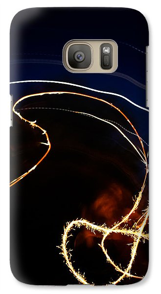 Galaxy Case featuring the photograph Sparkler by Joel Loftus