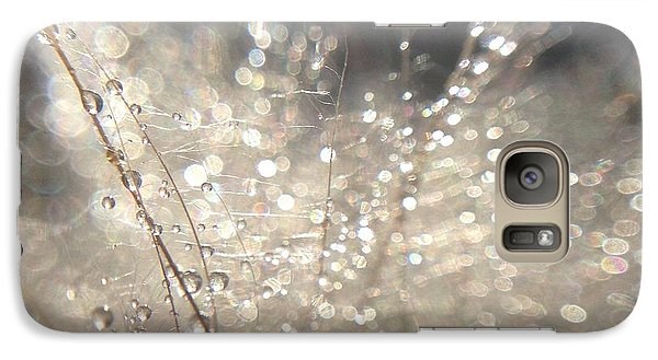 Galaxy Case featuring the photograph Sparkling Dew by Nikki McInnes