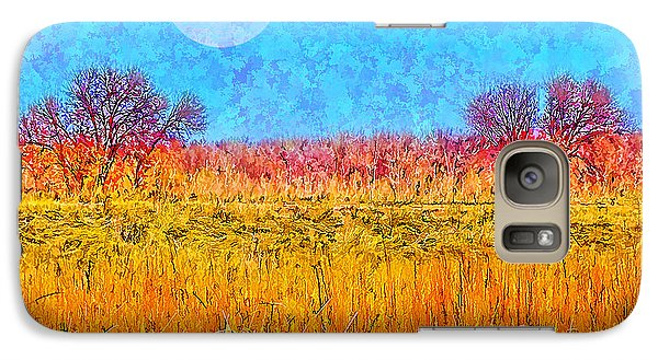 Galaxy Case featuring the digital art Moonlight Over Fields Of Gold - Boulder County Colorado by Joel Bruce Wallach