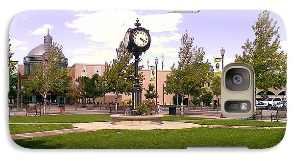 Galaxy Case featuring the photograph Sparks Community Clock by Bobbee Rickard