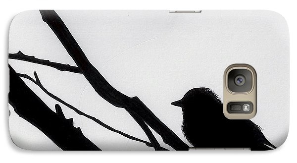 Galaxy Case featuring the drawing Sparrow In A Gray Sky by D Hackett