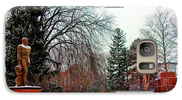 Michigan State Galaxy S7 Case - Sparty In Winter  by John McGraw