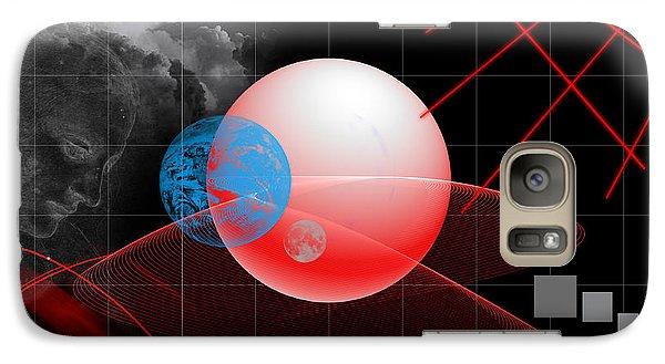 Galaxy Case featuring the digital art Spatial Geometry. by Angel Jesus De la Fuente