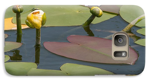 Galaxy Case featuring the photograph Spatterdock Heart by Paul Rebmann