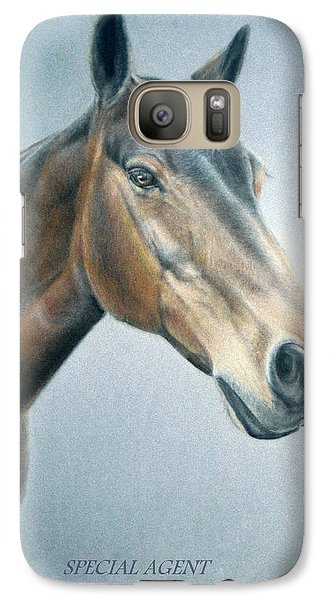 Galaxy Case featuring the painting Special Agent by Rosemary Colyer