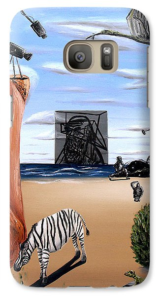 Galaxy Case featuring the painting Species Differentiation -darwinian Broadcast- by Ryan Demaree