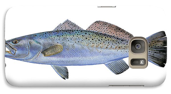 Drum Galaxy S7 Case - Speckled Trout by Carey Chen