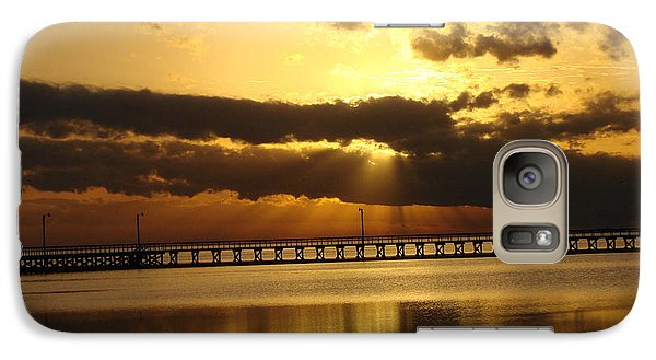 Galaxy Case featuring the photograph Spectacular Sunrise Two by Linda Cox