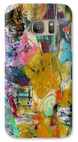 Galaxy Case featuring the painting Speechless by Katie Black