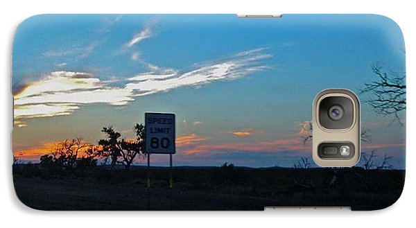 Galaxy Case featuring the photograph Speed Limit 80mph - No.0027 by Joe Finney