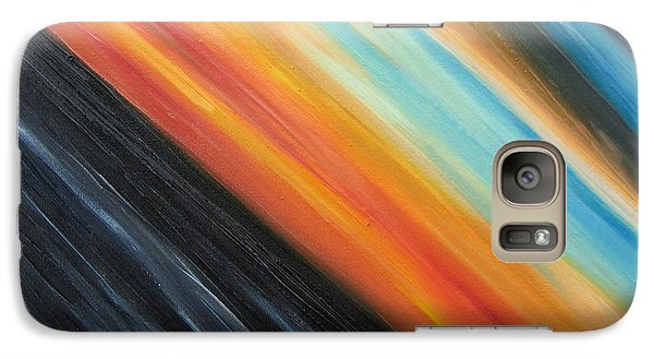 Galaxy Case featuring the painting Speedy Sunset by Tiffany Davis-Rustam