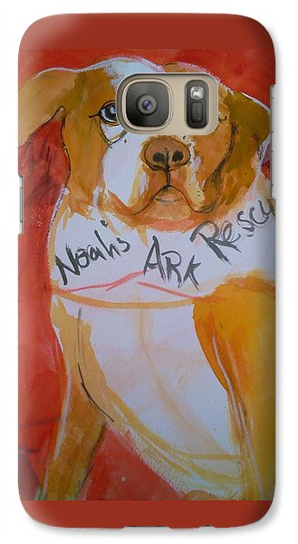 Galaxy Case featuring the painting Spencer The Pit Bull by Gertrude Palmer