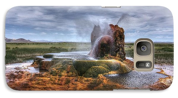 Galaxy Case featuring the photograph Spewing Minerals At Fly Geyser by Peter Thoeny