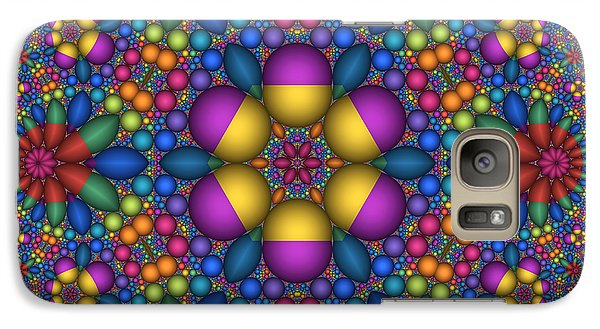 Galaxy Case featuring the digital art Sphere Packed Hyperbolic Disk by Manny Lorenzo