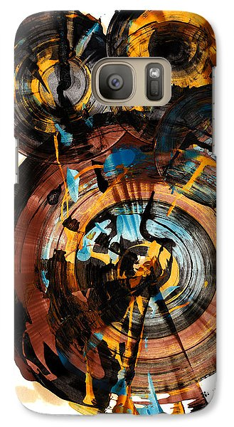 Galaxy Case featuring the painting Spherical Happiness Series - 994.042212 by Kris Haas
