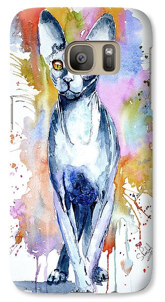 Galaxy Case featuring the painting Sphinx Cat by Steven Ponsford