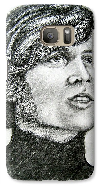 Galaxy Case featuring the drawing  A Young Barry Gibb by Patrice Torrillo