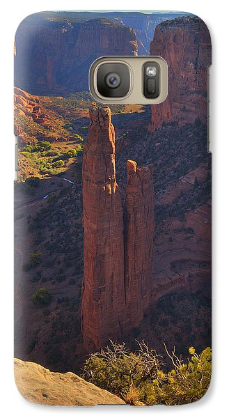 Galaxy Case featuring the photograph Spider Rock by Alan Vance Ley