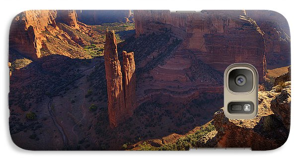 Galaxy Case featuring the photograph Spider Rock Sunrise by Alan Vance Ley