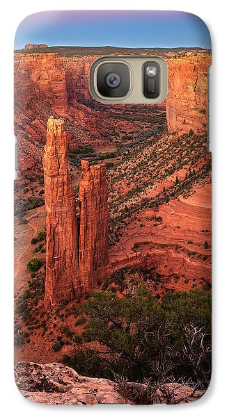 Galaxy Case featuring the photograph Spider Rock Sunset by Alan Vance Ley