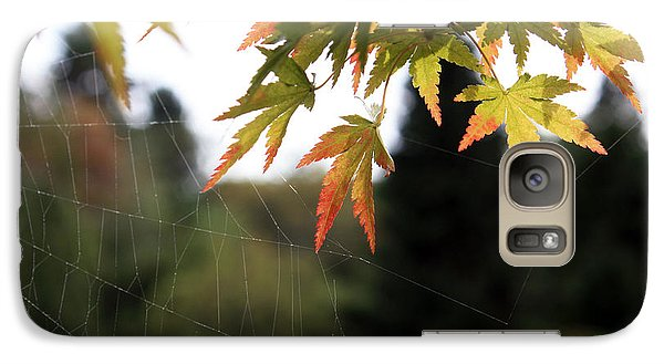 Galaxy Case featuring the photograph Spider-web Anchors by Gerry Bates