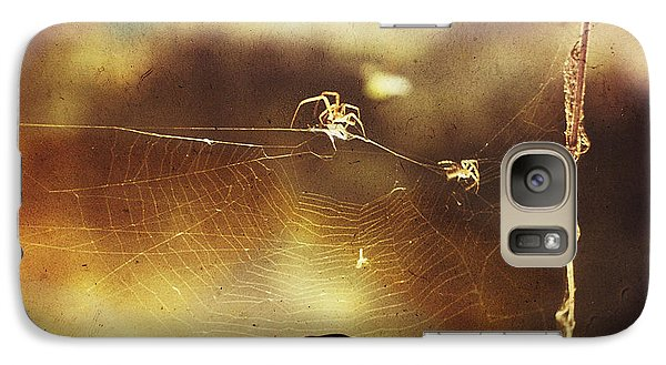 Galaxy Case featuring the photograph Spiders by Hartmut Jager