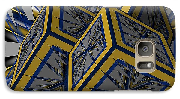 Galaxy Case featuring the digital art Spike Cubed 3d by Brian Johnson