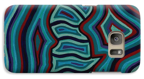Galaxy Case featuring the painting Spine Talk by Barbara St Jean