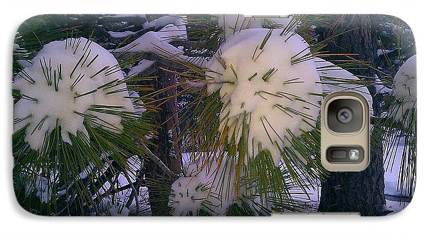 Galaxy Case featuring the photograph Spiny Snow Balls by Chris Tarpening