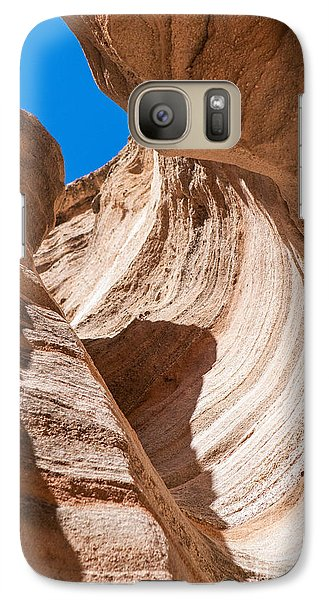 Galaxy Case featuring the photograph Spiral At Tent Rocks by Roselynne Broussard