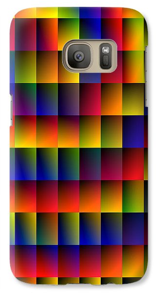 Galaxy Case featuring the digital art Spiral Boxes by Bartz Johnson