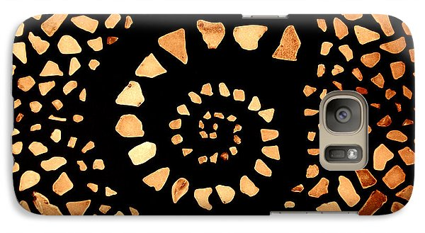 Galaxy Case featuring the mixed media Spiral by Kjirsten Collier