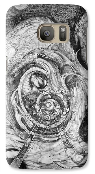 Galaxy Case featuring the painting Spiral Rapture 2 by Otto Rapp