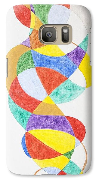 Galaxy Case featuring the painting Spiral Spacesuit by Stormm Bradshaw