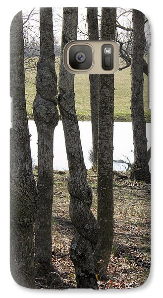 Galaxy Case featuring the photograph Spiral Trees by Nick Kirby