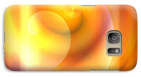 Galaxy Case featuring the painting Spiraled Square Abstract by Jessica Wright
