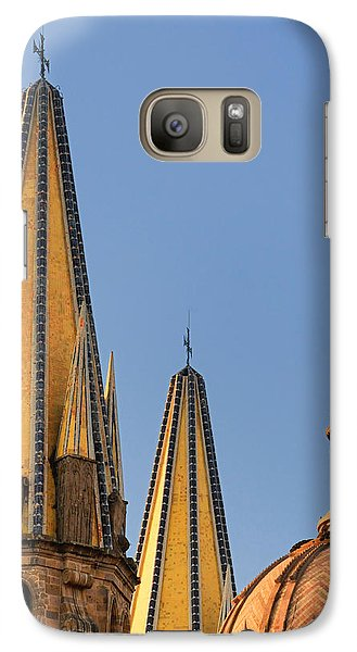 Galaxy Case featuring the photograph Spires And Dome - Cathedral Of Guadalajara Mexico by David Perry Lawrence