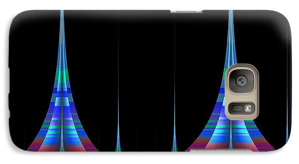 Galaxy Case featuring the digital art Spires by GJ Blackman