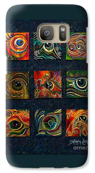 Galaxy Case featuring the painting Spirit Eye Collection I by Deborha Kerr