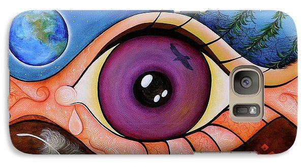 Galaxy Case featuring the painting Spirit Eye by Deborha Kerr