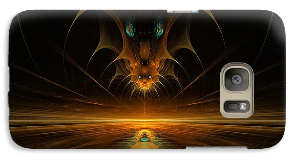 Galaxy Case featuring the digital art Spirit In The Sky by GJ Blackman