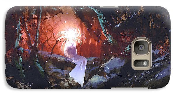 Magician Galaxy S7 Case - Spirit Of The Enchanted Forest,woman In by Tithi Luadthong