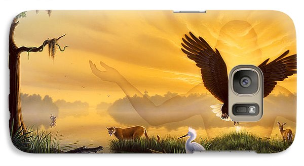Egret Galaxy S7 Case - Spirit Of The Everglades by Jerry LoFaro