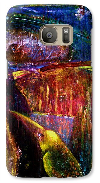 Galaxy Case featuring the painting Spirit Of The Jungle Whale2 by Kicking Bear  Productions