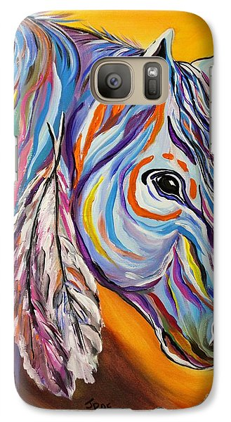 Galaxy Case featuring the painting 'spirit' War Horse by Janice Rae Pariza