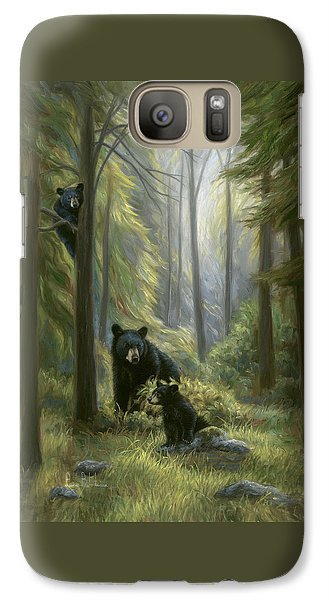 Bear Galaxy S7 Case - Spirits Of The Forest by Lucie Bilodeau