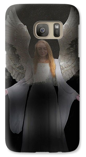 Galaxy Case featuring the photograph Spiritual Angel by Eric Kempson