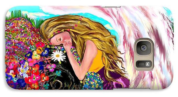 Galaxy Case featuring the drawing Spiritual Awakening  by Lori  Lovetere