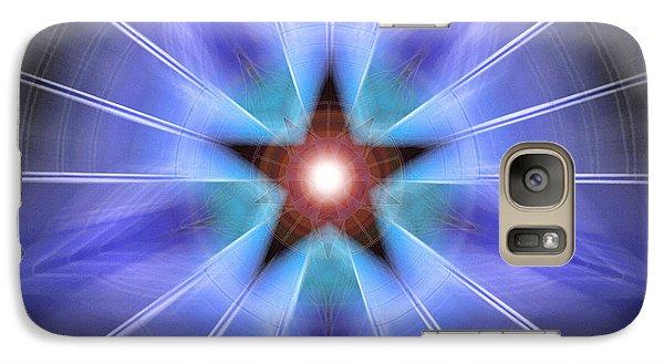 Galaxy Case featuring the drawing Spiritual Pulsar by Derek Gedney